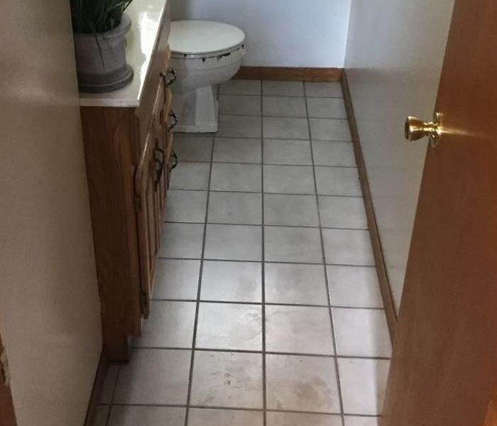 bathroom with sewage clean up